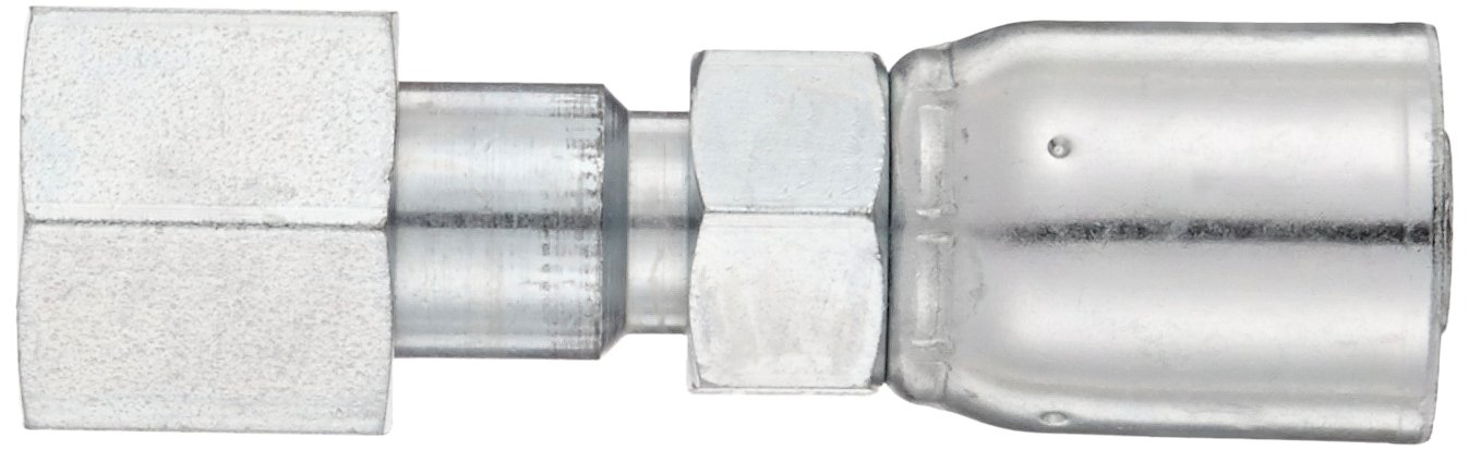 1//2 Hose ID AISI//SAE 12L14 Carbon Steel 1//2 Tube Size EATON Weatherhead Coll-O-Crimp 08E-S68 Female Swivel Straight Fitting