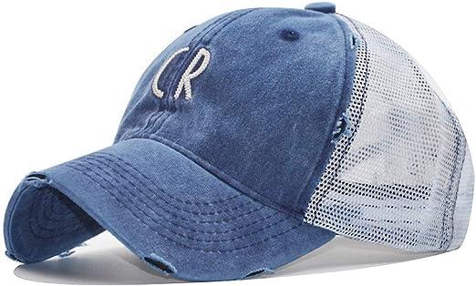 sdssup Bordado de algodón Lavado Letra CR Net Cap Gorra de béisbol ...