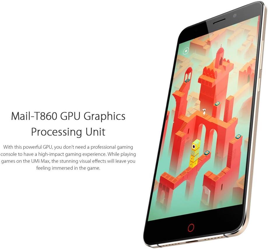 UMI Max 4G phablet - Android 6.0 smartphone de 5,5 pulgadas Gorilla Glass de Corning 3 Helio P10 Octa Core a 2,0 GHz 3 GB de RAM de la huella digital de