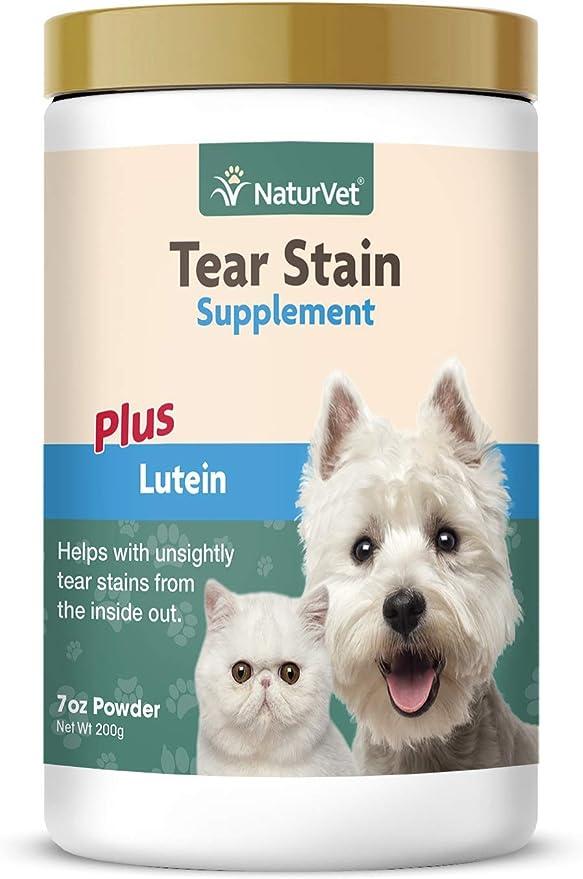 GARMON CORP NaturVet Tear Stain Suplemento Plus Luteína para Perros y Gatos, 200 g en Polvo, Fabricado en Estados Unidos: Amazon.es: Productos para mascotas