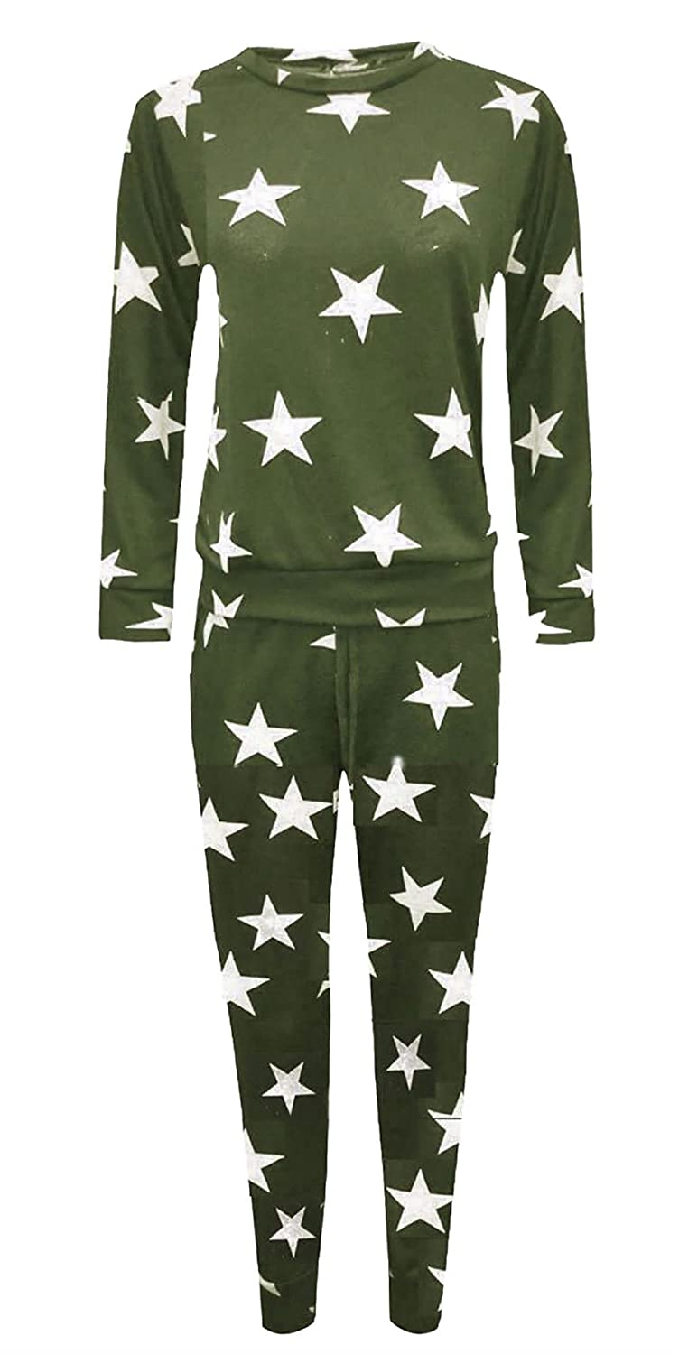 Rimi Hanger Girls Star Camouflage Print Jogging Tracksuit 7-13 Years