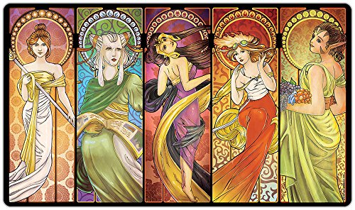 Art Nouveau Walkers Playmat by Inked Gaming / Inked Playmats / Perfect for MtG Pokemon & YuGiOh Magic the Gathering TCG Game Mat