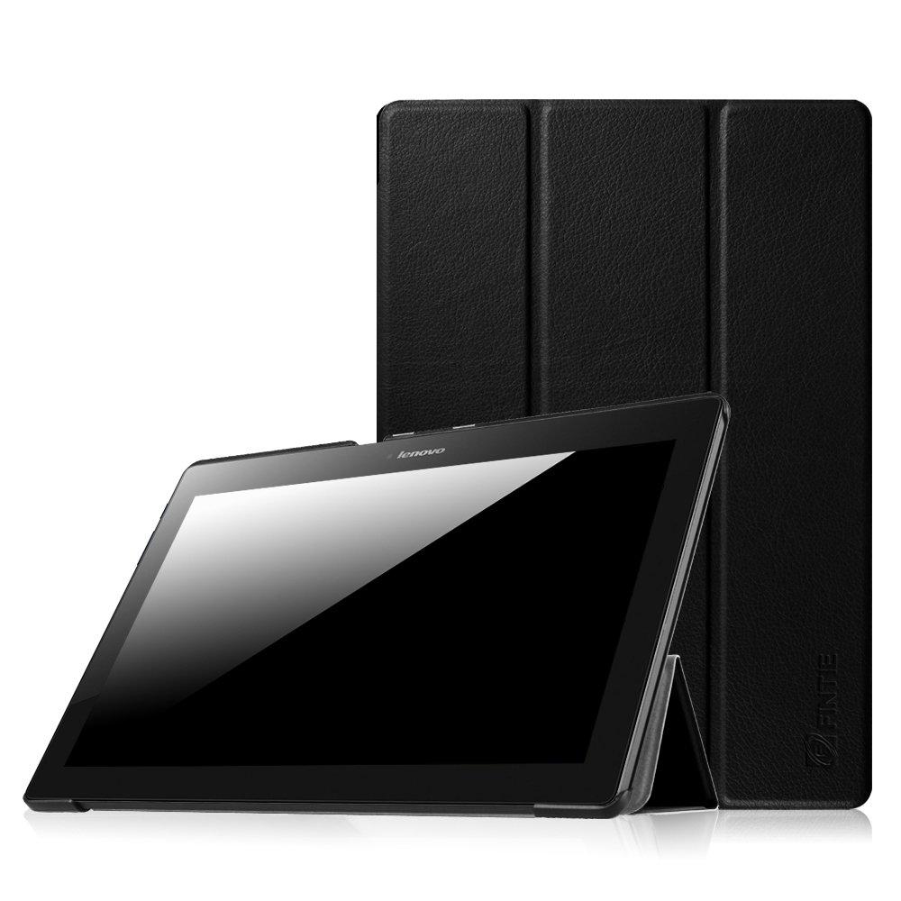 Fintie Lenovo Tab 10 / Lenovo Tab 3 Plus SlimShell Case - Ultra Light Weight Stand Cover for Lenovo Tab 3 10 Plus / TB-X103F / Tab2 A10 / Tab 3 10 Business (TB3-X70F) 10.1-Inch Tablet, Black
