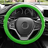 FH Group FH3003GREEN Green Steering Wheel Cover (Silicone W. Grip & Pattern Massaging grip Green Color-Fit Most Car Truck Suv or Van)
