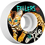 BONES Wheels Fellers Momo [V3] Skateboard Wheels, 50-Millimeter