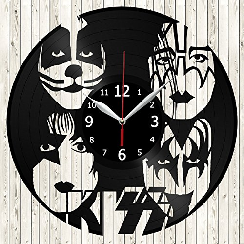 Kiss Rock Band Vinyl Record Wall Clock Decor Handmade Unique