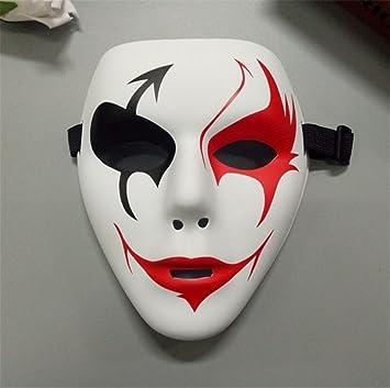 PromMask Mascara Facial Careta Protector de Cara dominó Frente Falso PVC Street Dance máscara Material Verde