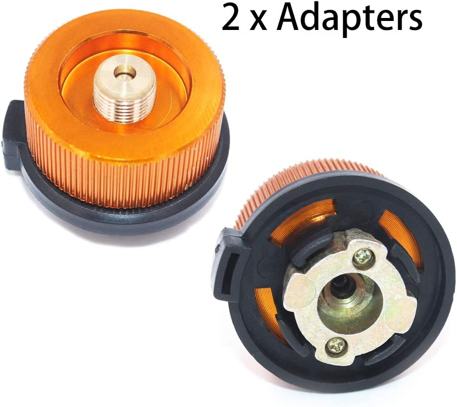 Sunoer LPG Adapter Camping Stove Convert Gas Tank Adapter for Nozzle Bottle Type Butane Auto-Off Gas Cartridge