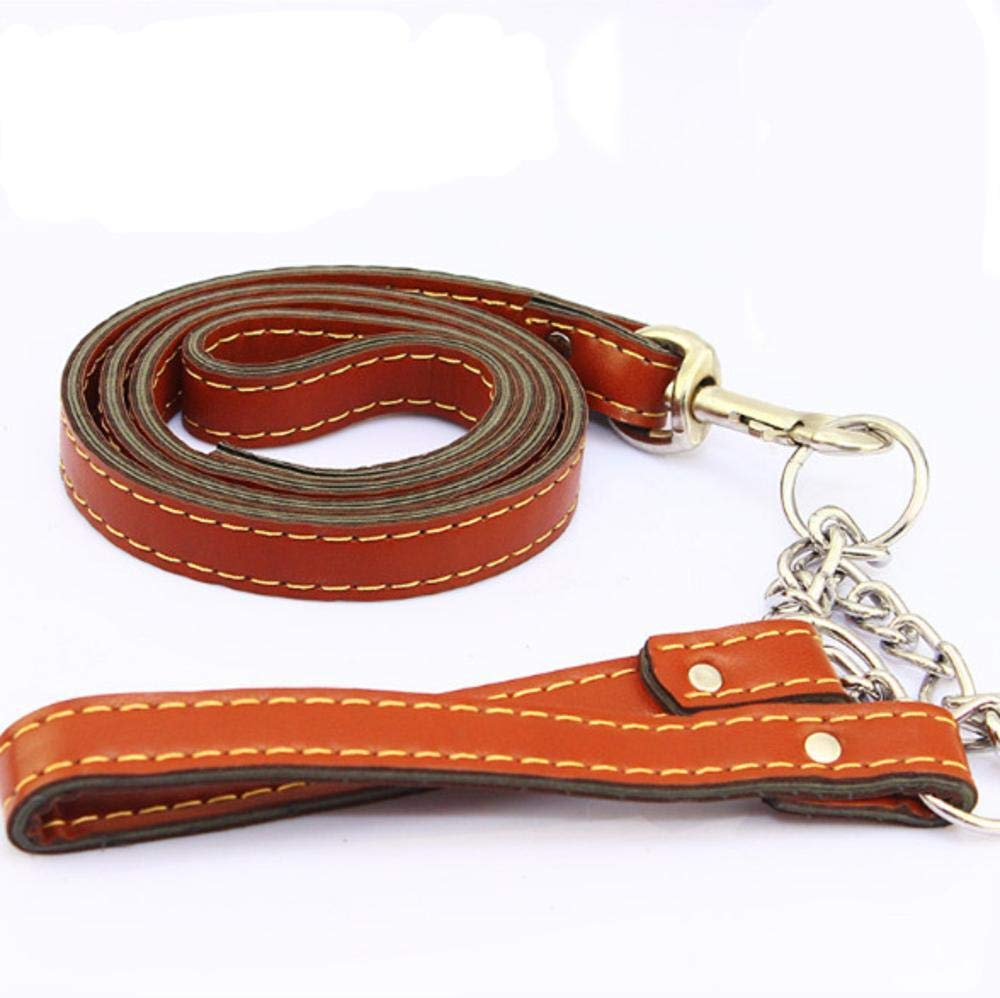 B Hjyi Pet Traction Strap Strap Collar Large Dog Leather Suit
