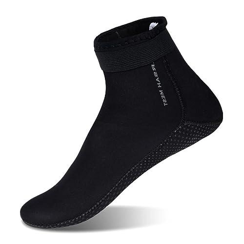 Mens Barefoot Aqua Water Shoes Socks For Swimming Diving Black US 13-14 Women 10.5-11 Men