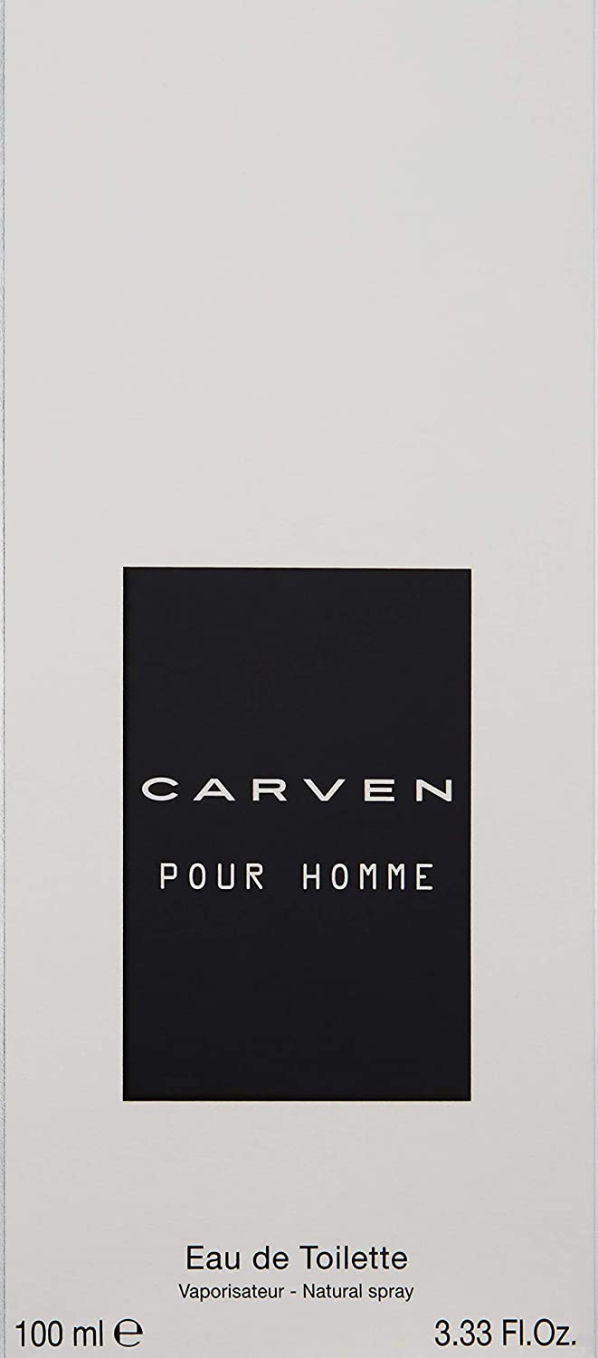 Carven Pour Homme Eau de Toilette Spray for Men, 3.33 oz