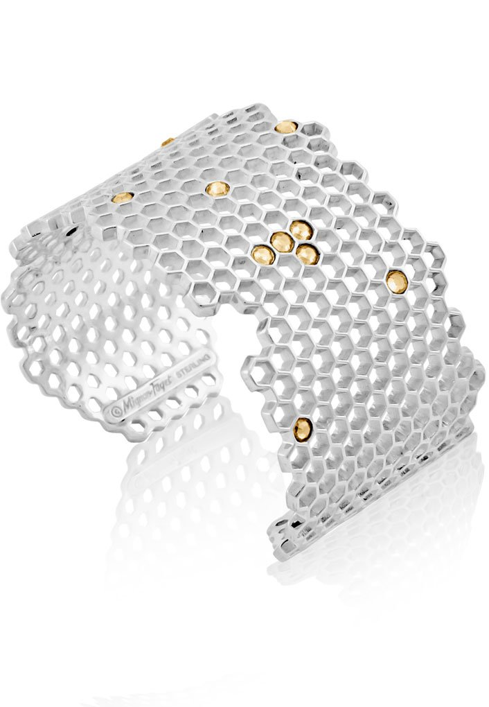 Mignon Faget HIVE Jeweled Sterling Silver Cuff with Honey Crystal