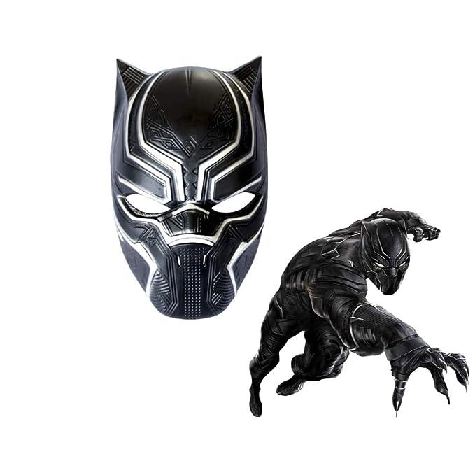 Black Panther Máscaras Cosplay Traje Marvel Superhéroe Película ...
