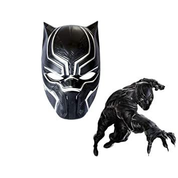 Black Panther Máscaras Cosplay Traje Marvel Superhéroe Película ...