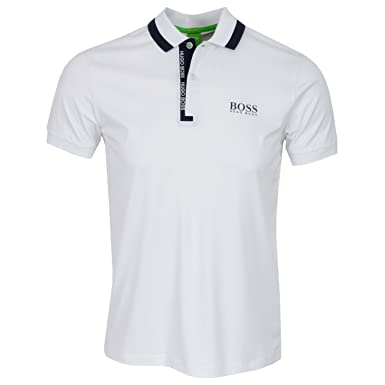 a5a551ea7 Hugo Boss Golf Shirt - Paddy Pro 2 - White SP17-S: Amazon.co.uk: Clothing