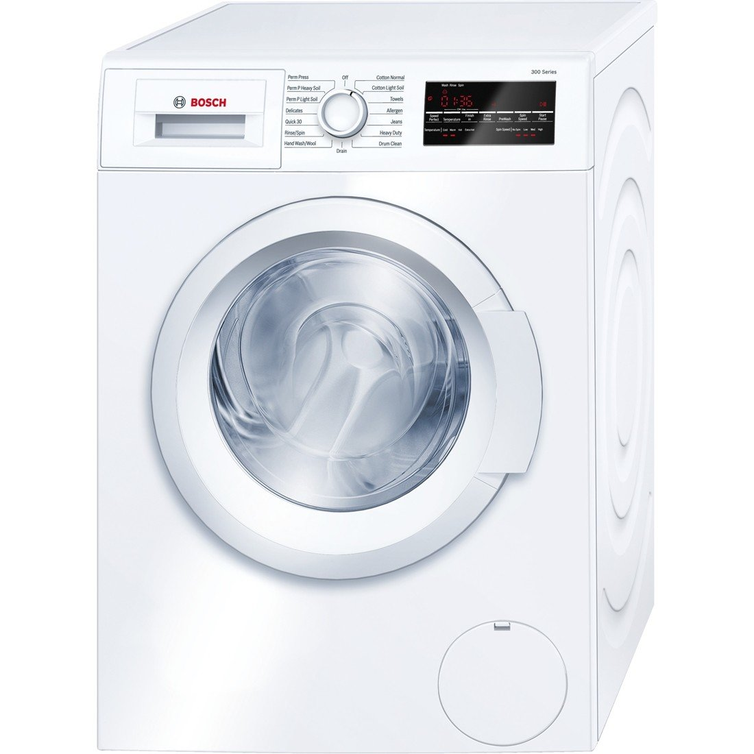 Amazon.com: Bosch WAT28400UC 300 2.2 Cu. Ft. White Stackable Front Load  Washer - Energy Star: Appliances