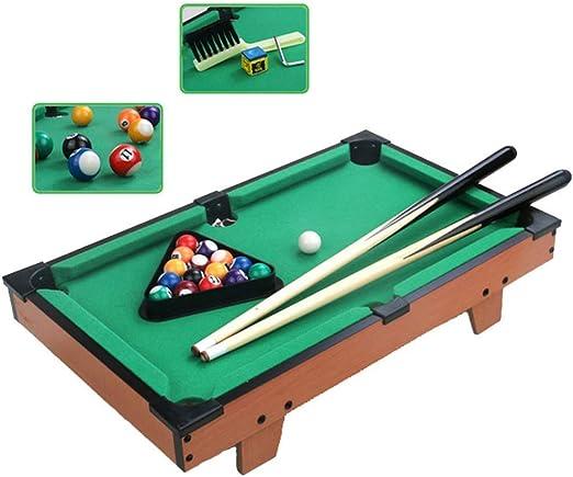 Super Black Bull El Juego de Billar Mini Tabletop Pool Set Incluye Bolas de Juego, Palos, tizas, Pinceles y triángulos. Portátil y Divertido para Toda la Familia.: Amazon.es: Juguetes y juegos