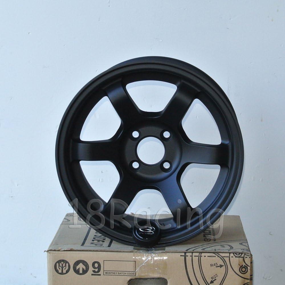 15x8 Rota Grid Concave 5x100 1 20 Flat Black Wheel