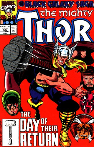 Black Galaxy Saga the Mighty Thor #423 Comic By Marvel Comics (The Day of Their Return, 423)