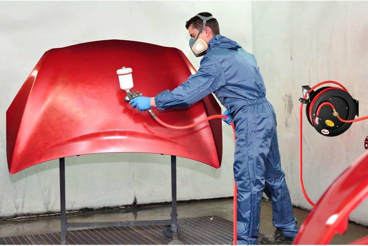 3//8-15m 20bar /Ø17 mm Automatik Schlauchtrommel Drucklufttrommel Schlauchaufroller Schlauchhalter ECD Germany Automatischer Profi Druckluftschlauch mit Aufroller
