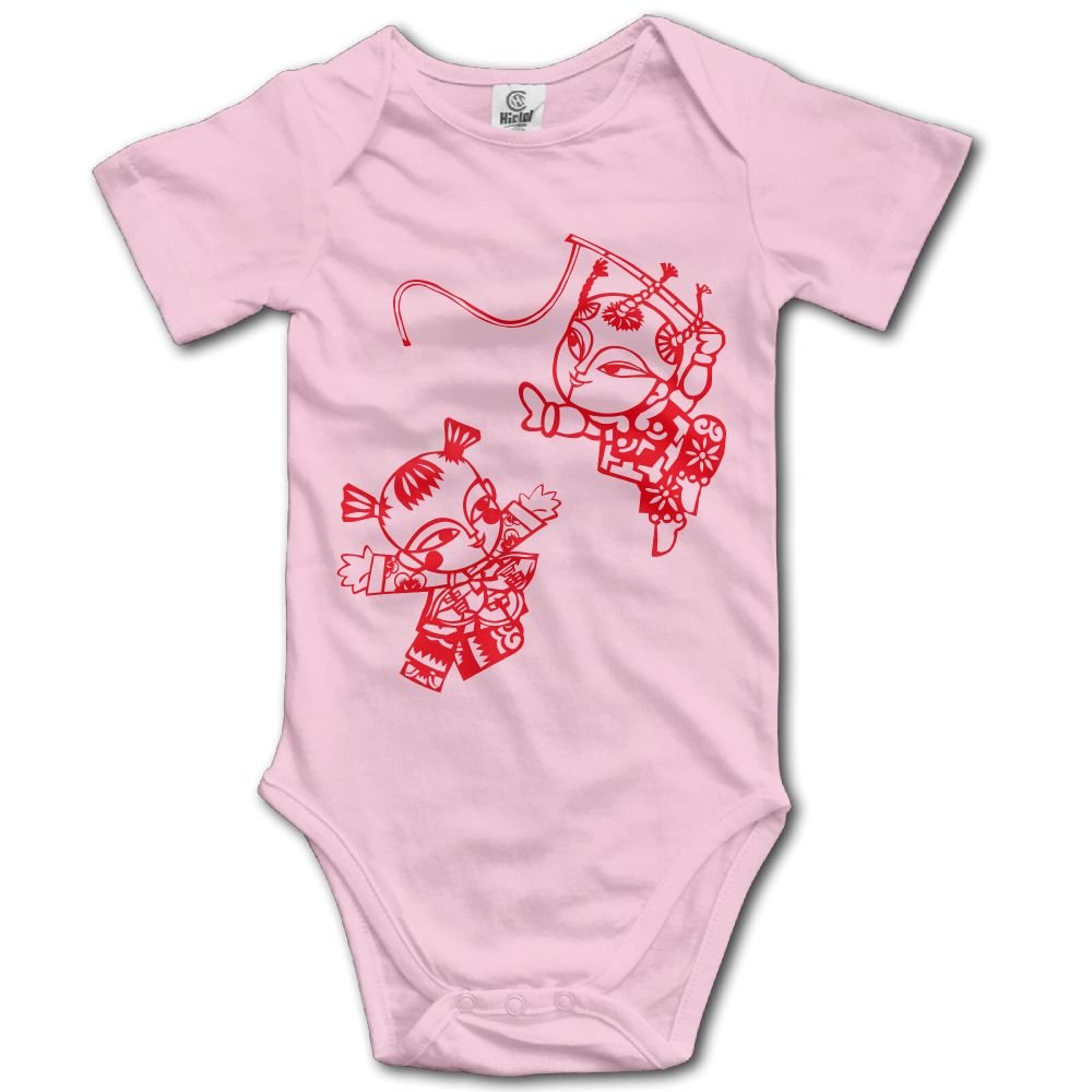 Jaylon Baby Climbing Clothes Romper Happy Chinese Infant Playsuit Bodysuit Creeper Onesies Pink