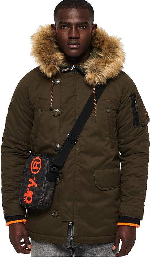 TALLA XL. Superdry de los Hombres Parka Jacket de SDX, Verde