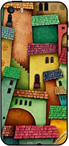 For iPhone 5 Case Colorful Houses Pattern