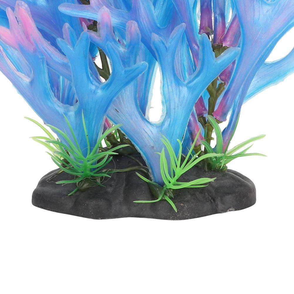 Blu vivido Acquario abbellimento Arredamento Ornamento per Acquario Pianta di Corallo Artificiale