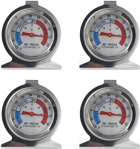 LIOOBO 4 piezas refrigerador congelador termómetro termómetro de ...