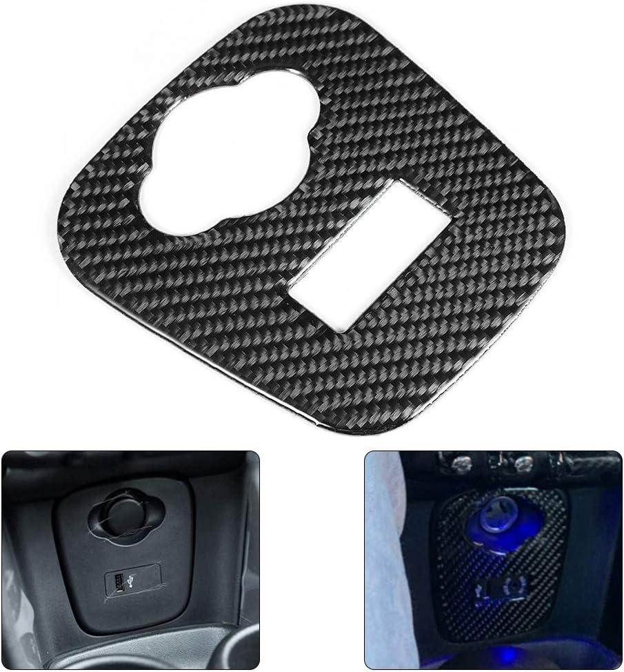 Cornice per accendisigari decorazione interna in fibra di carbonio decorativa per Mini Cooper F55 F56 F57