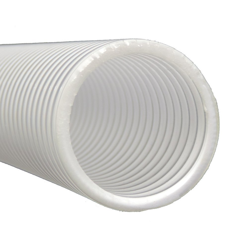 2'' Dia. x 100 ft HydroMaxx Clear Flexible PVC Suction and Discharge Hose with White Reinforced Helix by Maxx Flex (Image #1)