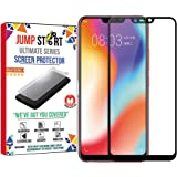 Jump Start Gorilla Tempered Glass 5D Full Coverage HD Clear Bubble Free Screen Protector for Vivo Y83 (Black)