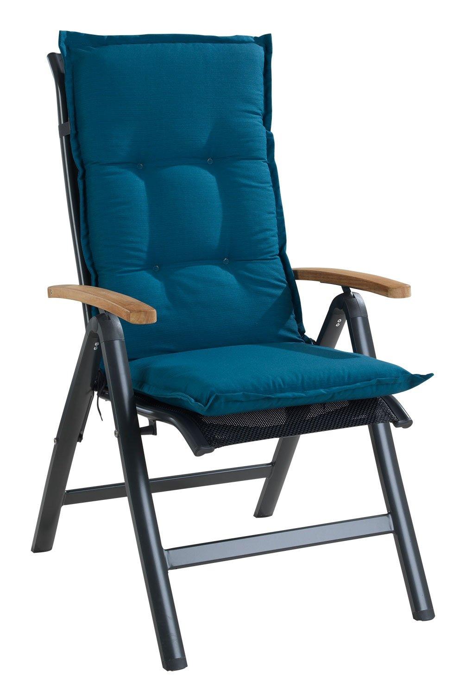 Petrol 50x120 cm Sesselauflage Sitzpolster Gartenstuhlauflage f/ür Hochlehner PETRO 1