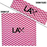 ChalkTalkSPORTS RokBAND Multi-Functional Headband - Lax Crossed Stick Guys - Chevron Pink White