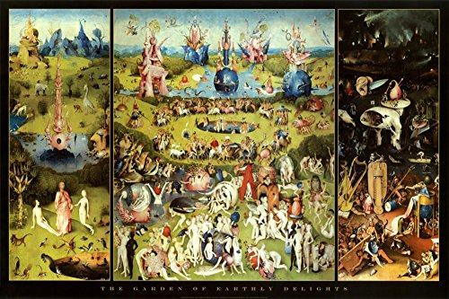 - Hieronymus Bosch Garden of Earthly Delights Art Print Poster 36 x 24in
