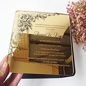 Amazoncom Sample order for 5X7inch Golden mirror acrylic wedding