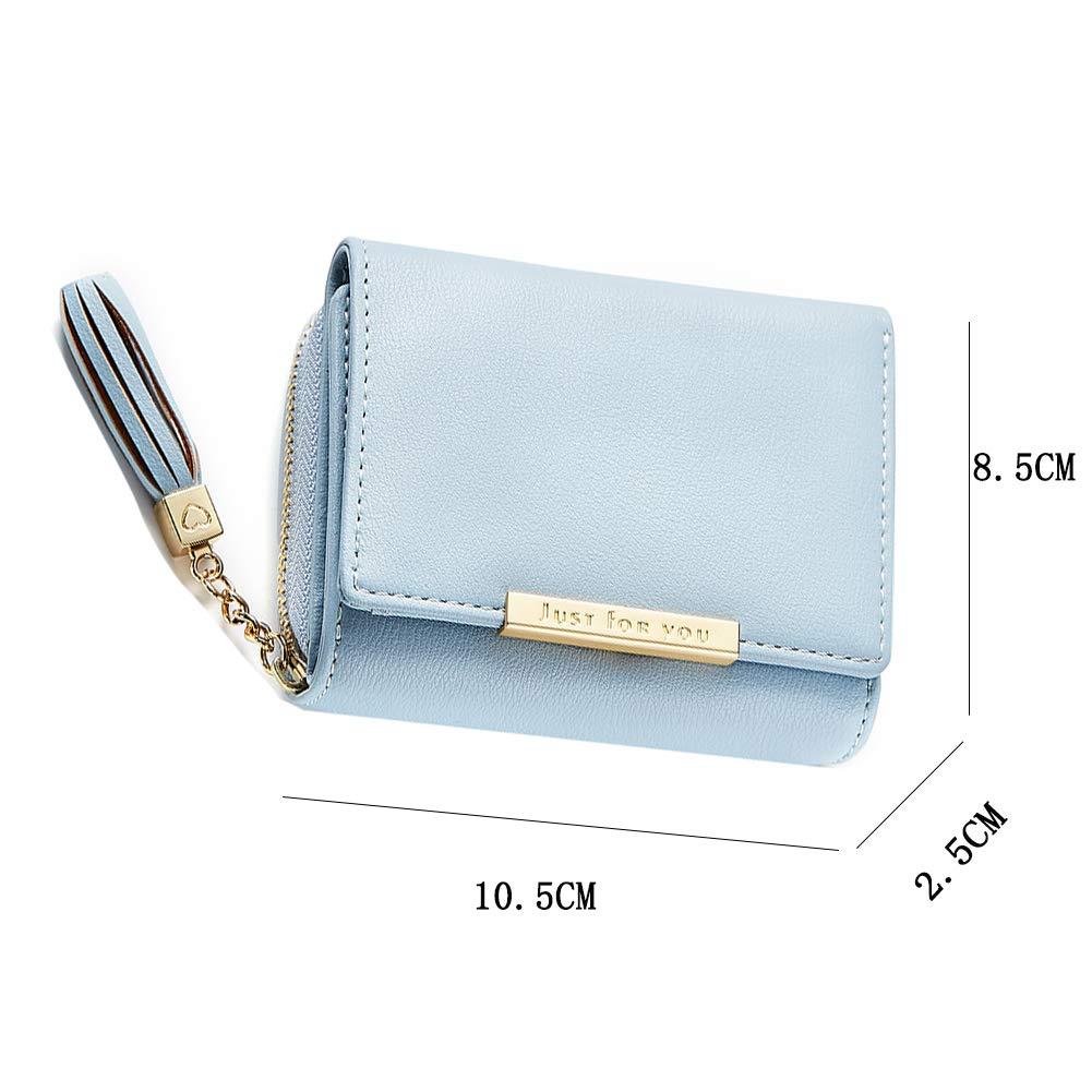 2d8dabf97fe1 Amazon | XMeng レディース 財布 三つ折り財布 大容量 小銭入れ付 小型 軽量 人気 RFID&磁気スキミング防止 ウォレットかわいい  女性用 (グリーン) | XMeng | 財布