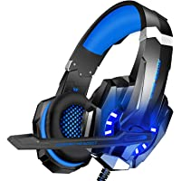 BlueFire 3.5mm Gaming Headset for Playstation 4 PS4 Xbox One Games Tablet Laptop, Over Ear Headphone with Mic and LED…