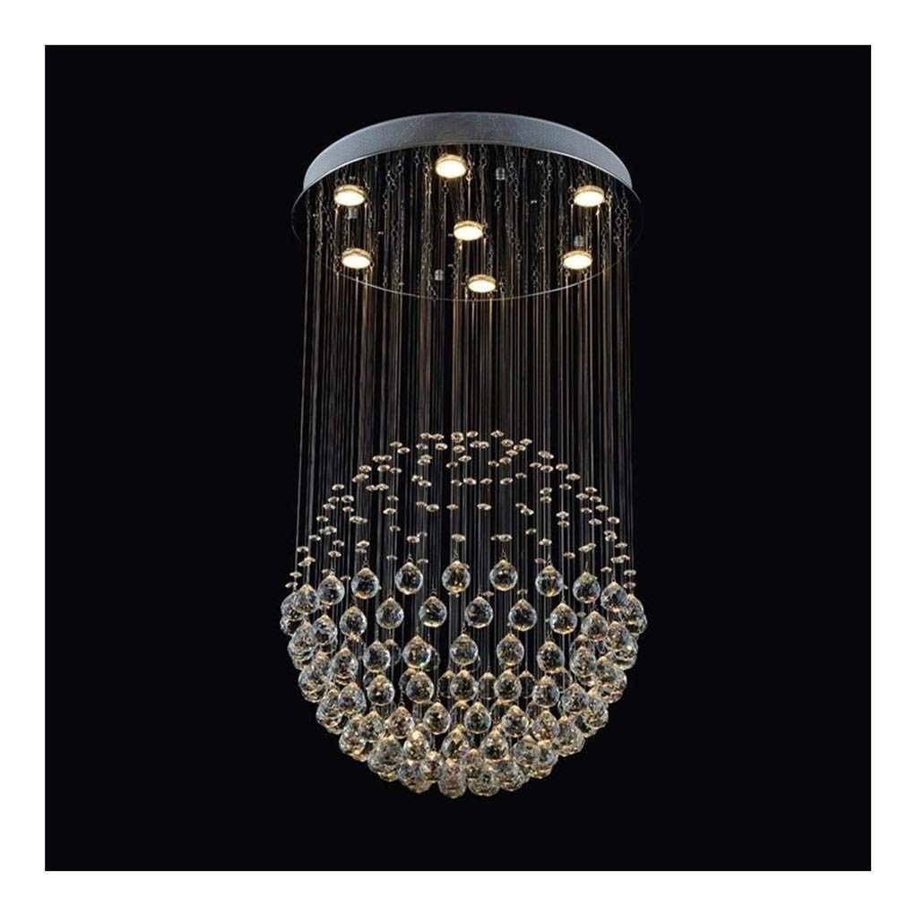 Office Ceiling Lights Round Crystal Chandelier LED Ceiling Chandelier for Dining Room Bathroom Bedroom Living Room Round Dining Room Lighting E14 Light Source7 Energy Level A+++ by Xk-Ceiling Lights
