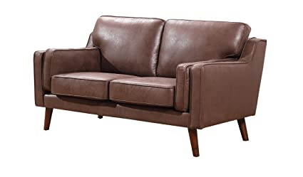 Container Furniture Direct S5346-L Whaley Loveseat, Brown/Tan