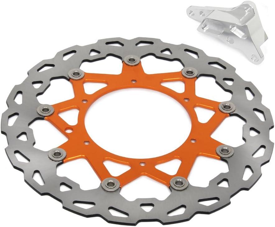 Jfgracing 320 Mm Orange Vorne Schwimmende Bremsscheibe Adapter Halterung 125 530 Sx Sxf Xc Xcw Xcf Xcfw Exc 4 Topf Hf6 Brembo Bremssattel Supermoto Auto
