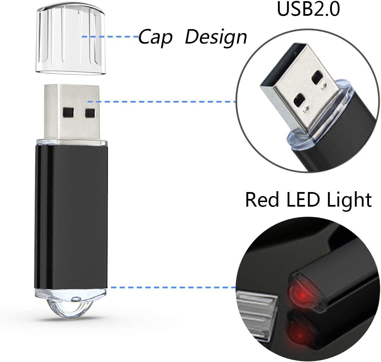 Black Thumb Drive Gift by Datarm USB 2.0 Flash Drive for Storing Small File Portable Personalized Logo Pen Drive Zip Drive 256MB Memory Stick Pack of 100 Mini Metal Pendrives