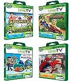 LeapFrog LeapTV Active Video Learning Toys - 4 Game Value Pack Bundle: Ultimate Spiderman, Sports, Kart Racing, Pixar Pals Plus