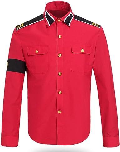 guangmu Michael Jackson - Camisas para Adultos y niños de Estilo CTE Rojo XXL: Amazon.es: Ropa y accesorios