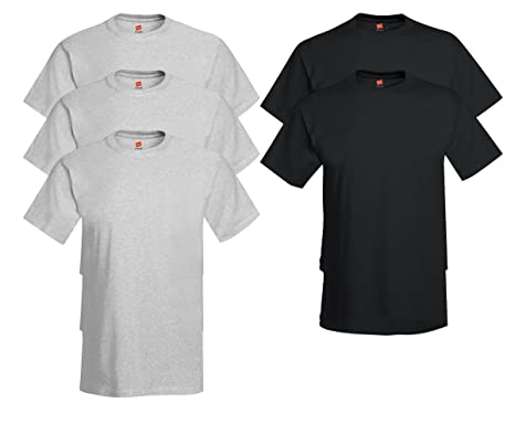 a2889e460704 Hanes Comfort Soft Crew Neck 5 Pack Tee (Pack of 5) at Amazon Men's ...