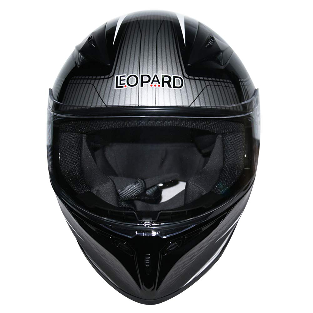 Extra Visera Iridium Leopard LEO-813 Casco Moto Integral Motocicleta Ciclomotor Scooter ECE Homologado Casco de Moto Integrales Mujer Hombre Adultos Rosa//Negro//Plata 55-56cm S