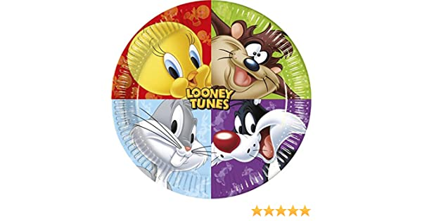 bf49d37881f 23 cm Looney Tunes platos de papel para fiesta, pack de 8
