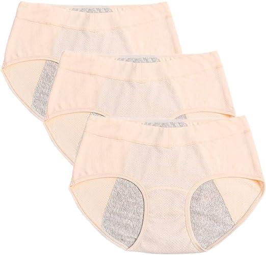 YWRD Bragas Algodon Altas Bragas Menstruales Costura Transpirable Bragas Braguita Hipster Sexy Acogedor Ropa Interior Bragas para Mujeres yellow3pcs,Free Size: Amazon.es: Hogar