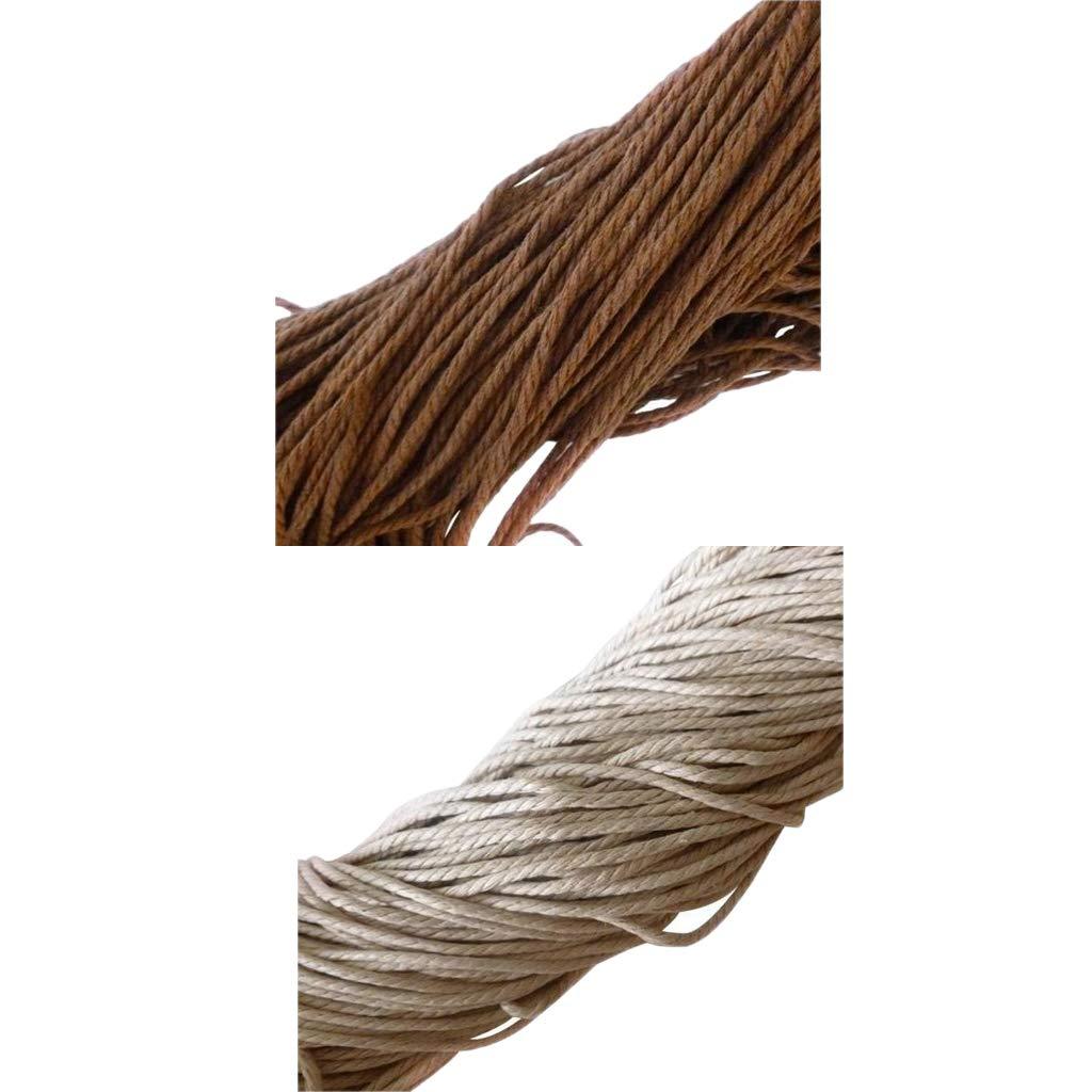 P Prettyia 2 Piezas Encerado Cuerda de Cuero para Pulsera Fabricació n de Abalorios Manualidades Artesaní a y Bisuterí a