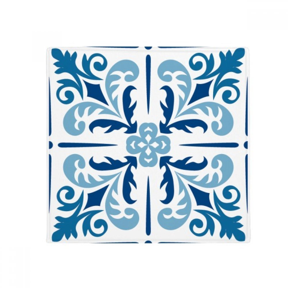 DIYthinker bluee Mgoldcco Decorative Flower Ilustration Anti-Slip Floor Pet Mat Square Home Kitchen Door 80Cm Gift